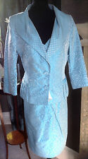 Stunning Turquoise Blue, Mother of the Bride suit (Mireia by Presen) Size UK 16