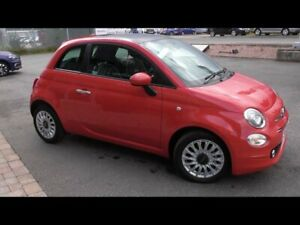 FIAT 500 LOUNGE (2008) RED WITH BLACK LEATHER
