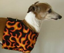 RED FLAMES ITALIAN GREYHOUND MALTESE XOLO MINIATURE PINSCHER DOG HARNESS VEST