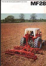 "Massey Ferguson ""MF28"" Tractor Mounted Disc Harrow Brochure Leaflet"