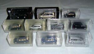 10 verschiedene Original VW Modellautos 1:87 zum Teil in Schauboxen