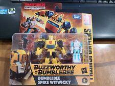 NIB Hasbro Transformers War For Cybertron Buzzworthy BUMBLEBEE SPIKE Witwicky