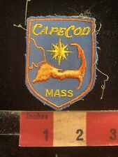 Vtg CAPE COD Massachusetts Embroidered Cloth Patch w/ Cheesecloth Back 93AD