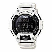Casio WS220-7C Tough Solar Digital Watch White Band with Black Face