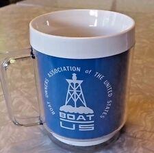 Boat Owners Association of the United States BOAT US Plastic Retro Vintage Mug