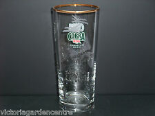 Cobra Indian Lager Half Pint Gold Rimmed Glass - Bar/Home/Collectable/Gift