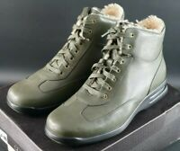 RARE COLE HAAN AIR CONNER GREEN LEATHER BOOTS SHOES SIZE UK 9 EU 43 NEW OG DS
