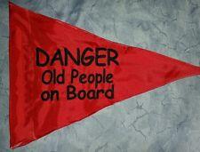 Custom triangle Danger Old People Safety Flag 4 Offroad JEEP ATV UTV Bike