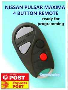 NISSAN PULSAR MAXIMA 4 BUTTON REMOTE  ready for programming