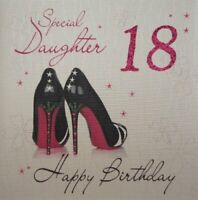 white cotton cards 1-Piece Special Daughter Happy Birthday Extra-Large 18th Birt