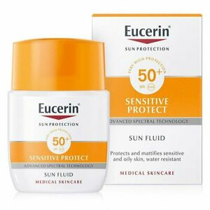 Eucerin Sensitive Protect Sun Fluid Mattifying 50ml. SPF50+ Brand New 50ml