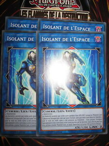 YU-GI-OH! COM PLAYSET (LOT DE 4) ISOLANT DE L'ESPACE FLOD-FR037 NEUF EDITION1 FR
