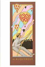 """4""""x6"""" Postcard Poster card 14th Albuquerque Balloon Fiesta 1985 Hot Air Repro"""