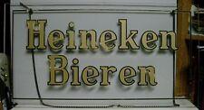 Rare 1950's Heineken Bieren Glass Sign - Holland