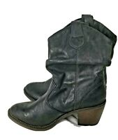 Xappeal Womens Boots Sz 7 Black Faux Leather Slouch Western Style Brooks Pull On