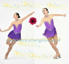 Ice Skating Dress. Purple Figure Skating.Acrobatics Baton Twirling Dance Costume
