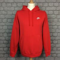 NIKE MENS RED FOUNDATION OVERHEAD HOODED TOP HOODIE HOODY RRP £45 AD
