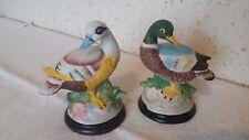 Objets déco 2 Figurines Canards en céramique de 11,5 cm de haut