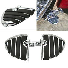 Chrome Wing Footrest Foot Pegs For Harley Davidson Dyna Glide Sportster 883 1200