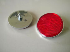 Pair Yamaha DT100 DT125 DT400 TX 500 650 750 RS100 RD200 XS1 Rear Reflector Red