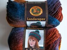 Lion Brand Landscapes roving yarn, Mountain Range, lot of 2 (147 yds each)