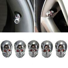 5 un. Ojos Rojos mal Calavera Neumáticos vástago de la válvula de aire Polvo Tapas para COCHE SUV Bicicleta
