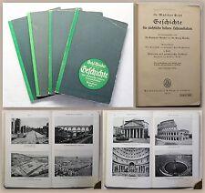 Gehl Weicker Geschichte für sächsische höhere Lehranstalten Heft 1-4 1933 xz