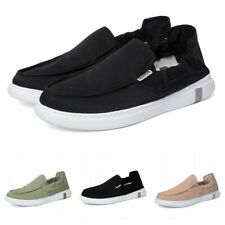 Mens Driving Moccasins Flats Breathable Canvas Fabric Slip On Loafers Shoes 44 B