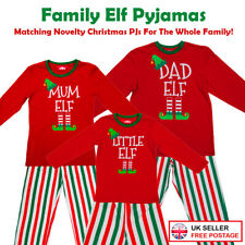 CHRISTMAS FAMILY RED ELF PYJAMAS PJ'S KIDS BOYS GIRLS MUMS DADS XMAS FUN