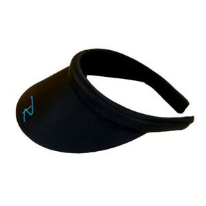New Radicool Black Women's Visor Hat / Broad Brim Hat