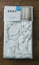 New ListingDkny Promenade White Gray Textured Floral 2 Panels Window Curtain Drapes 50x96