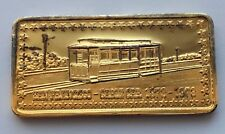 WONDERS OF AMERICA SAN FRANCISCO CABLE CAR 1873-1973 G/P 1 OZ 999 SILVER BAR HM