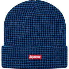 SUPREME 4-Color Beanie Blue Box Logo camp safari garçon big logo F/W 13