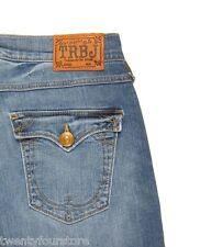 NWT True Religion Jeans Lisa Snake Eyes Boyfriend Crops in Medium Drifter 24 25