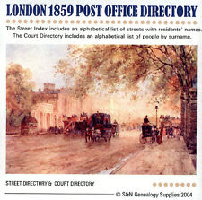 London 1859 Kelly's Post Office Directory
