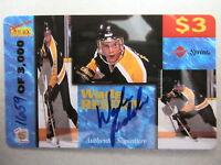 WADE REDDEN Rookies Autogramm Sport Eishockey Limitierte Telefonkarte Sprint