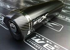 Suzuki GSXR 750 Y, K1 K2 K3 K4 K5 Black Tri Oval, Carbon Outlet, Exhaust Can