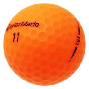 120 TaylorMade Project (s) Matte Orange Used Golf Balls AAAAA