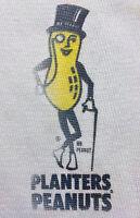 Vintage 70s 1970s PLANTERS PEANUTS Long Sleeve Thermal T SHIRT Sears Mens sz M