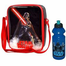 Disney Star Wars Kids Children Lunch Bag and Plastic Water Drink Bottle Set