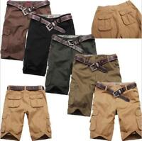 Men's Cotton Hobo Men Relaxed Fit Cargo Shorts Summer Cool Pants Hot Sale Sz##