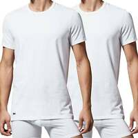 Lacoste Cotton Stretch 2-Pack Crew Neck T-Shirt, White