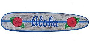 Aloha Surfboard 100cm Wohnraumdeko im Hawaii Style Surfbrett