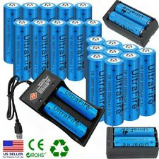 Lot UltraFire 18*650 Batteries Li-ion 3.7V Rechargeable Battery Chargers US Post