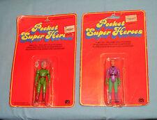 vintage Mego POCKET SUPERHEROES JOR-EL & LEX LUTHOR MOC Super Heroes