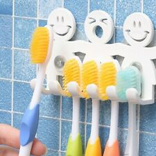 1Pcs Toothbrush Holder Camping Bathroom Smile Face Hanging Brush Holders