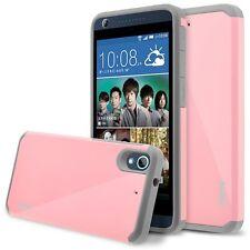 HTC Desire 626 Case, Hard Impact Dual Layer Shockproof Bumper Case - Pink