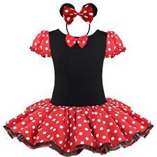 Infant Toddler Polka Dot Girls Ballet Dance Costume Dress With Headband