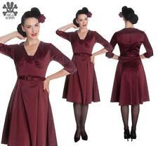 Knee Length Retro Regular Size Dresses for Women