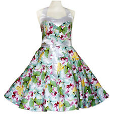 50er Rockabilly Vestito Sottoveste PIN UP PARTY cotone L 59 Multicolore